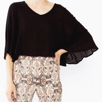 Sheena Oversized Cropped Top