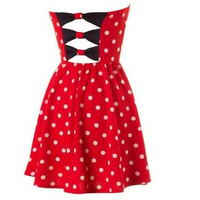 Strapless Polka Dress