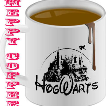 hogwarts castle as disney castle  Mug size 8,2 x 9,5 cm coffee mug,tea mug