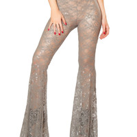 Sequin Lace Bell Bottoms