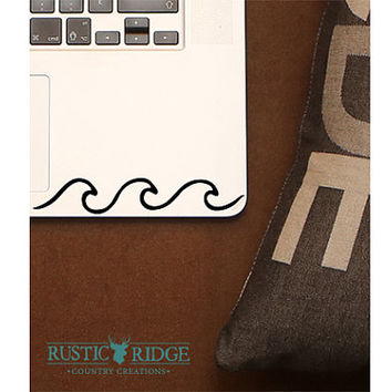 Wave Decal - Wave Sticker - Ocean Decal - Ocean Sticker - Vinyl Decal - Laptop Decal - Macbook Decal - Girly Decal Laptop Sticker Car Decal