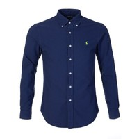 Polo Ralph Lauren Navy Slim Fit Twill Shirt - Sale