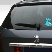 """WHALE Decal 5"""" inch Car Tag Sticker Personalized Sea Life Beach Ocean Monogram Vehicle sticker decal"""