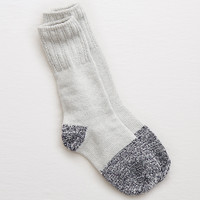 Aerie Colorblock Crew Socks, Medium Heather