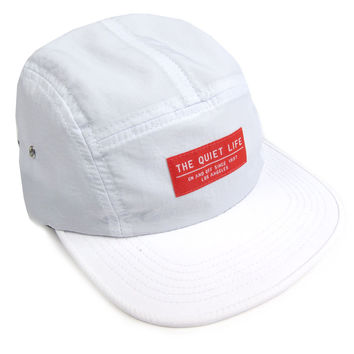 Quiet Life: Base 5 Panel Hat - White
