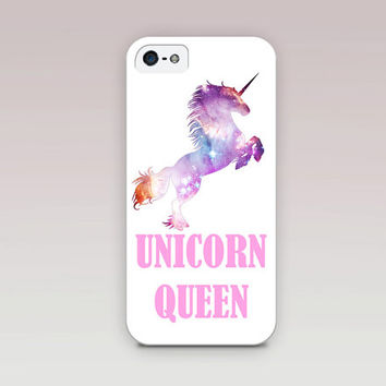 Unicorn Queen Phone Case For - iPhone 6 Case - iPhone 5 Case - iPhone 4 Case - Samsung S4 Case