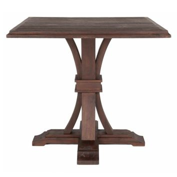 Devon Square Counter Height Dining Table Rustic Java