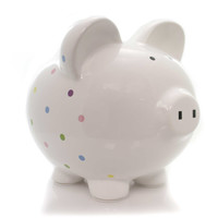 Bank CONFETTI PIGGY Ceramic Polka Dots 3606