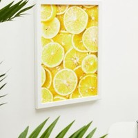 Honeymoon Hotel Lemon A3 Wall Art at asos.com