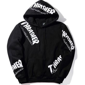DCCK7XP Thrasher Print Hip-Hop Top Sweater Hoodie