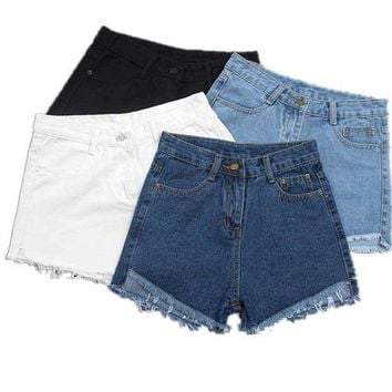 ESBON Fashion Women Slim Fit Denim Sexy Hot Shorts Summer Casual Jeans High Waist Short Pants H9