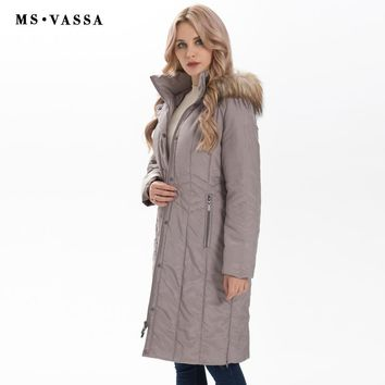 Winter Parkas Women New Fashion Autumn Ladies Long Jackets Detachable Hood With Fake Fur Outerwear