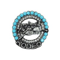 Western Cowgirl Cowgirl Rodeo Girl Concho Turquoise Beads Statement Ring