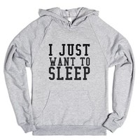 Just Sleep-Unisex Heather Grey Hoodie