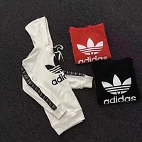"Women Fashion ""Adidas"" Print T-Shirt Top Tee Hooded Pullover Tops Sweater Sweatshirts"