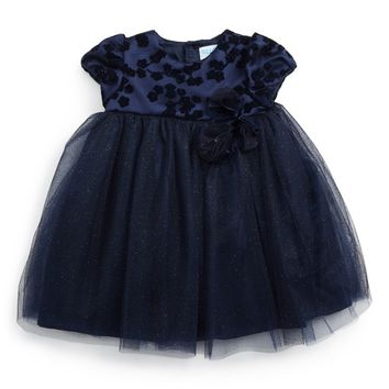 Luli & Me Twinkle Fit & Flare Dress (Baby Girls) | Nordstrom