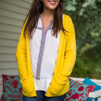 All Up To Me Cardigan, Yellow