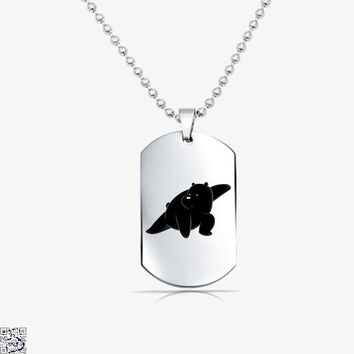 Ice Bear Fight, We Bare Bears Tag Necklace