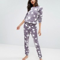 Loungeable Fluffy Long Pajamas at asos.com