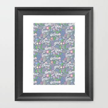 How Does Your Garden Grow Framed Art Print by Noonday Design | Society6