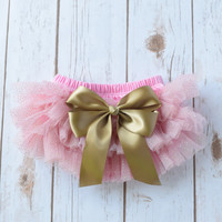 Baby Tutu, Newborn Ruffle Diaper Cover, Newborn Photo Outfit, Cake Smash Outfit, Pink and Gold Tutu, Baby Tutu Skirt, Ruffle Diaper Cover,
