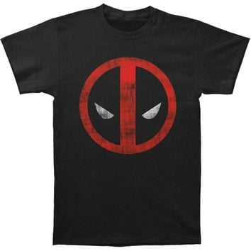 Deadpool Men's  Distressed Logo Slim Fit T-shirt Black