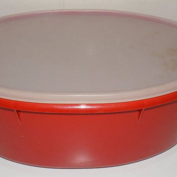 Tupperware Ham Chicken Roast Container Carrier Keeper With Tray