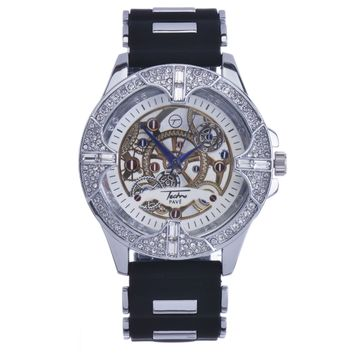 Jewelry Kay style Men's Teen's New Fashion Hip Hop Iced Out Bling Bullet Band Watches WR 8300 S