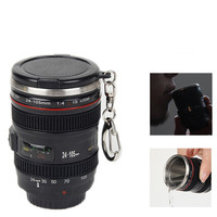 60ml Hot sales 2.1OZ Mini Stainless Steel Mug Cup Vodka Camera Lens Spirits Portable Thermos Cup Creative Christmas gifts