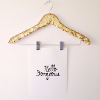 "THE ORIGINAL Sequin Shirt Hanger ""with clips"""