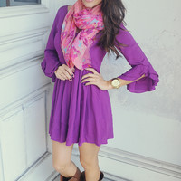 Take Me On A Sleigh Ride Dress: African Violet
