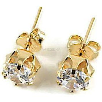 Cz Studs Earrings 18Kts of Gold Plated