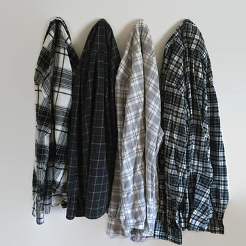 Vintage Oversize Flannel Shirt Distressed Flannels, Old Flannels, Plaid Shirt, Flannel Shirt, Plaid Flannel, Grunge Flannel, Hipster Flannel