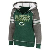 NFL Women's Split Neck Hoodie - Packers