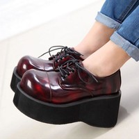 Women Booties Imitations Demonia Ankle Motorcycle Boots Goth Punk Style Creeper Shoes
