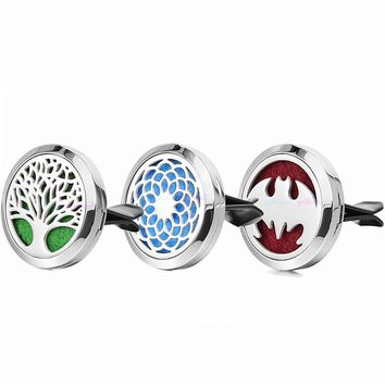 1pc Dropshipping Stainless Steel Dream Catcher Tree Car Accessories Essential Oil Car Diffuser Locket Clip Aromatherapy Pendants
