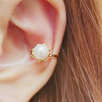 Pearl Flower Ear Cuffs (2 pcs, no piercing, Adjustable) - LilyFair Jewelry