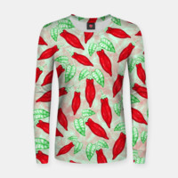 Red Hot Chilli Pepper Decorative Food Art Woman cotton sweater, Live Heroes