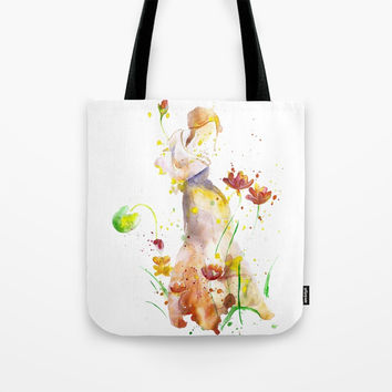 Woman's Abstract - Fall Tote Bag by MIKART