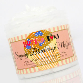 SUGARY BLUEBERRY MUFFINS Body Butter Soufflé 4oz