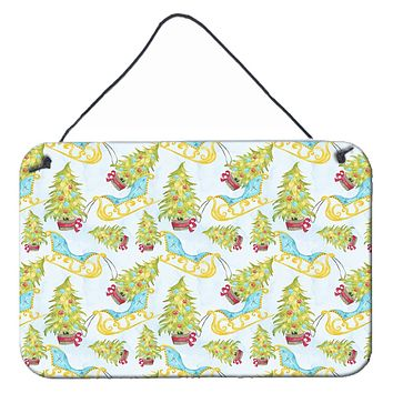 Christmas Tree and Sleigh Wall or Door Hanging Prints BB7486DS812