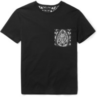 Alexander McQueen - Silk-Pocket Cotton-Jersey T-Shirt | MR PORTER