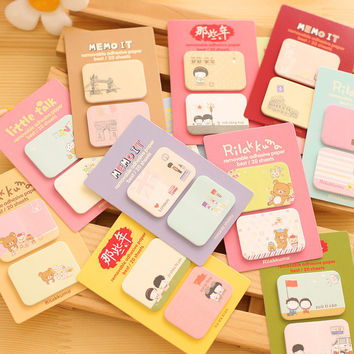 1PCS Cute Kawaii mini Memo Pads Sticky Notes Post It Diary Planner and Office Stationery Stickers Scrapbooking School Supplies