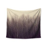 "Robin Dickinson ""Forest"" Beige Brown Wall Tapestry"