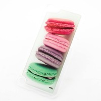 CLEAR Snap On Case for APPLE IPOD TOUCH 5 / 5G / 5th Gen Generation Plastic Cover - FRENCH MACARONS dessert sweets meringue macaroon ice cream