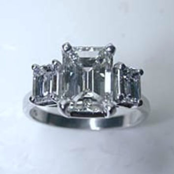 5.20ct Emerald Cut Diamond Engagement Ring GIA CERTIFIED DIAMOND JEWELFORME BLUE