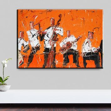 xh2273 Rock Jazz Music Home Decor Wall Art Painting Canvas Art Picture African Oil Paints For Bars Kitchen Room Decor
