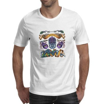 Nouveau T Shirt Tattoo Spider Bug Skull Punk Rock Anime T-shirt Funny Cool Casual Unisex Tee