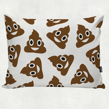 Poop - Emoji - Happy poo - All Over - Pillow Cover - Home Gift