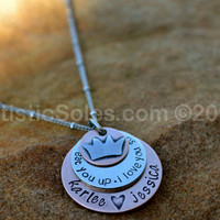 I'll Eat You Up I Love You So!  Mother's Necklace by Artistic Soles